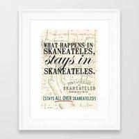 all over Skaneateles Framed Art Print
