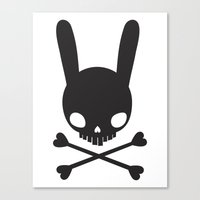 SKULL BUNNY OF PIRATES Canvas Print