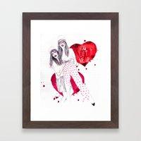 High, Valentine :-) Framed Art Print