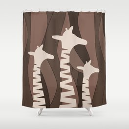 Shower Curtain - Abstract Giraffe Family  - oursunnycdays