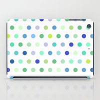 Polka Dots - Blue & Green iPad Case