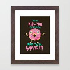 Killer Donut Framed Art Print