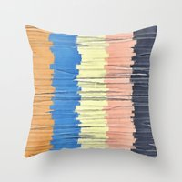 Textured Stripes Abstract Throw Pillow