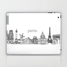 Paris Landmarks by the Downtown Doodler Laptop & iPad Skin