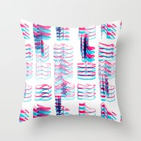 16 SHOES LATER - THE 3D … Throw Pillow