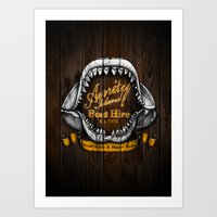 Amity Island Boat Hire Art Print