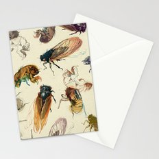 summer cicadas Stationery Cards