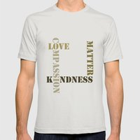 Kindness Mens Fitted Tee Silver SMALL
