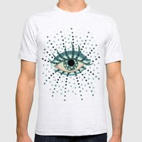 Dots And Abstract Eye Mens Fitted Tee Ash Grey SMALL