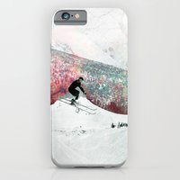iPhone Cases featuring Vintage Skiing by Pati Designs
