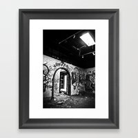 Expressions in Black and White Framed Art Print