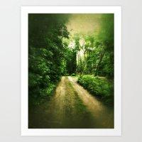 A Walk To The Cabin Art Print