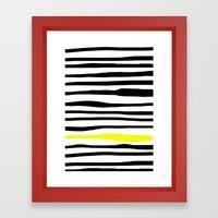 Neon zebra stripes Framed Art Print