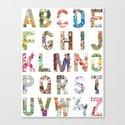 ABC of professions Canvas Print
