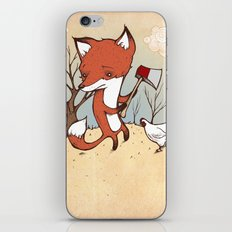 Fox and Chicken iPhone & iPod Skin