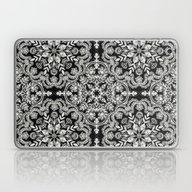 Black & White Folk Art P… Laptop & iPad Skin