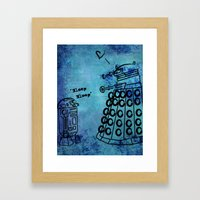 Dalek's First Emotion Framed Art Print