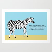 Zebros The Douches Of Th… Art Print