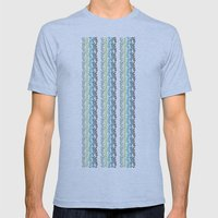 Blue and mint floral Mens Fitted Tee Athletic Blue SMALL
