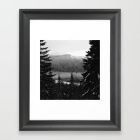 Snowy View Along The Tra… Framed Art Print