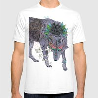 Journeying Spirit (wolf) Mens Fitted Tee White SMALL