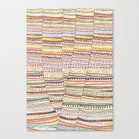 Cone Pattern Canvas Print