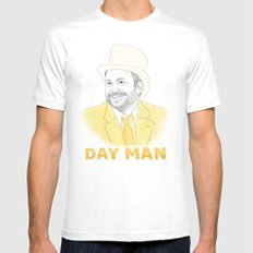 Day Man White Mens Fitted Tee SMALL