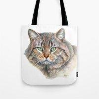 Street Cat portrait CC1402 Tote Bag