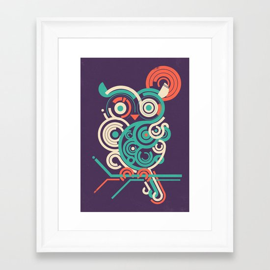 Owl 2.0 Framed Art Print