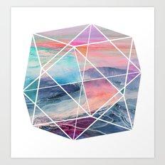 Geometric Landscape Art Print