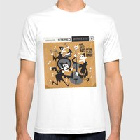 The Jazz Bats Mens Fitted Tee White SMALL