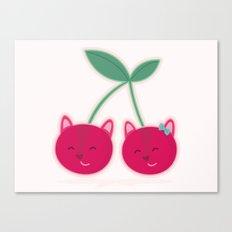 Cherry kitties Canvas Print