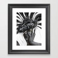 Dragon Woman Framed Art Print