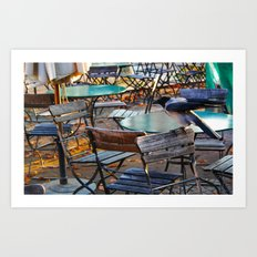 Crow on Chair Art Print