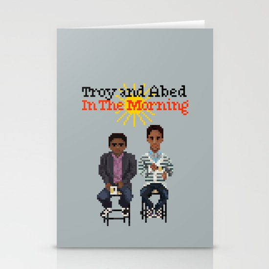 Troy And Abed In the Morning Stationery Card