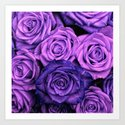 Purple Roses Art Print