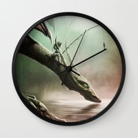 Fishing On The Drinking … Wall Clock