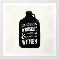 Cigareets & whuskey Art Print