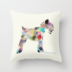 Schnauzer modern Throw Pillow
