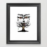 Spooky Tree Framed Art Print