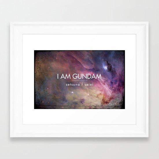 Gundam Retro Space 2 Framed Art Print