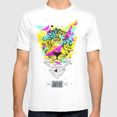 JAGUAR HOUSE Mens Fitted Tee SMALL White