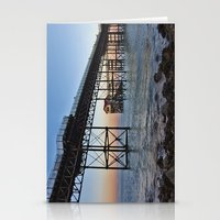Stationery Card featuring The Boathouse on the Pier. by Becky Dix