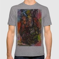 Watercolor Illusion  Mens Fitted Tee Athletic Grey SMALL