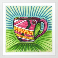 I drew you a hover mug of Coffee. (Oct.21, 2015) Art Print