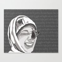 Happiness in Grayscale Canvas Print