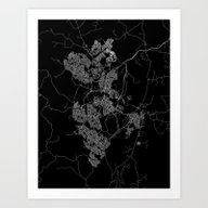 Canberra Map Australia Art Print