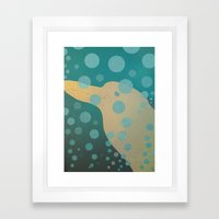 Dolphin underwater! Framed Art Print