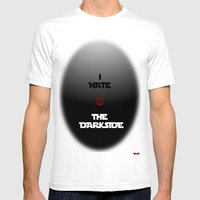 THE DARKSIDE Mens Fitted Tee White SMALL