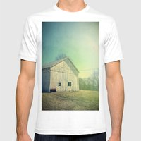 Country Morning Mens Fitted Tee White SMALL